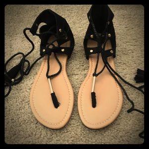 Tassel Tie Gladiator Sandals, Size 6.5 ❤️💋💋